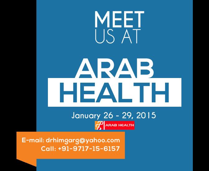 Visit Us At The Arab Health 2015 26-29 January 2015