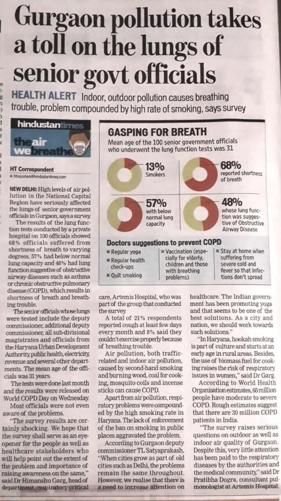 Hindustan Times 19th Nov 2015