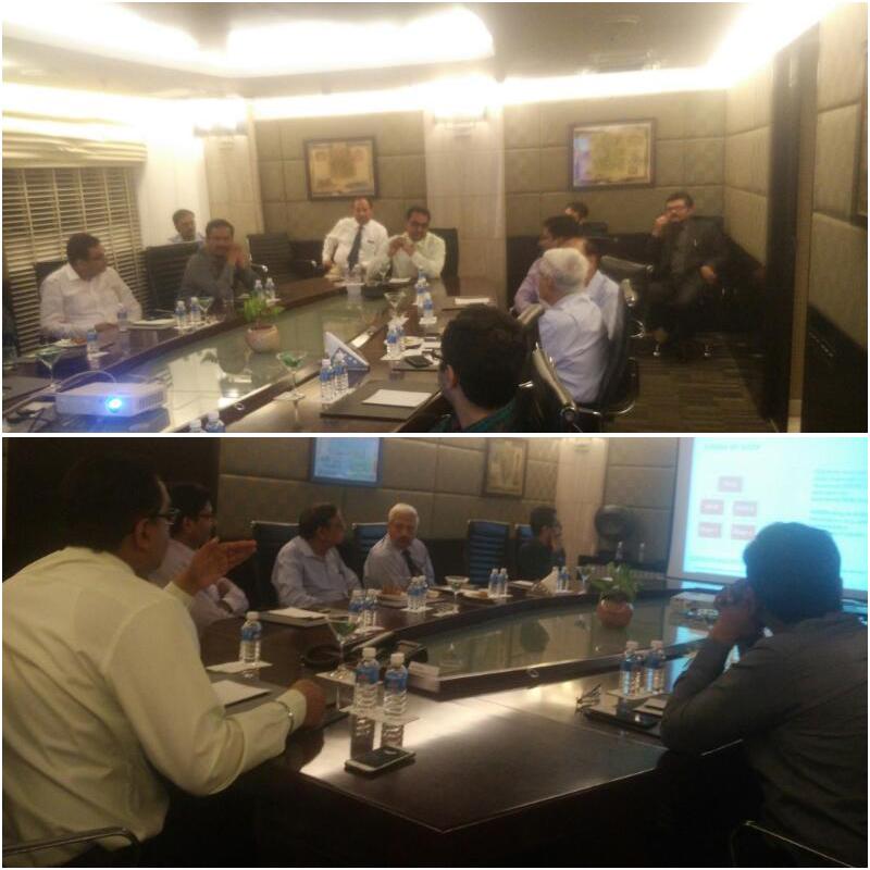 Dr. Himanshu Garg, Sleep Specialist, Aviss health addressing the focus group meeting of Physicians on Insomnia in Gurgaon