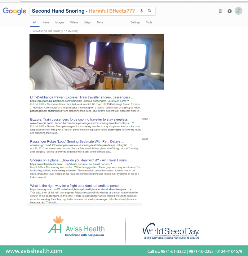 Second hand snoring - Harmful Effects