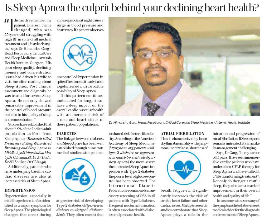 Is Sleep Apnea the Culprit Behind Your Declining Heart Health ?