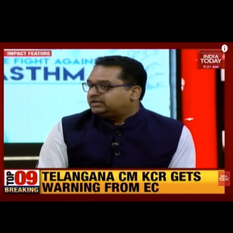 Dr. Himanshu Shares his views with India Today on World Asthma Day