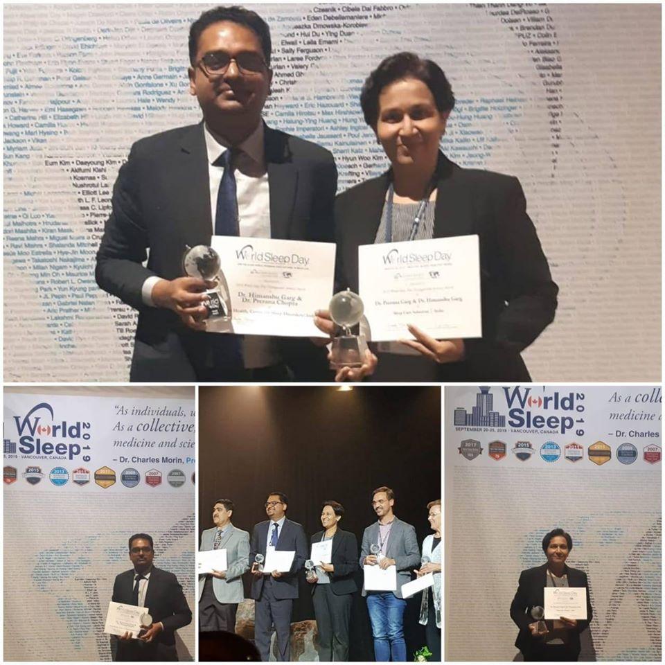 World Sleep Day 2019 Distinguished Activity award